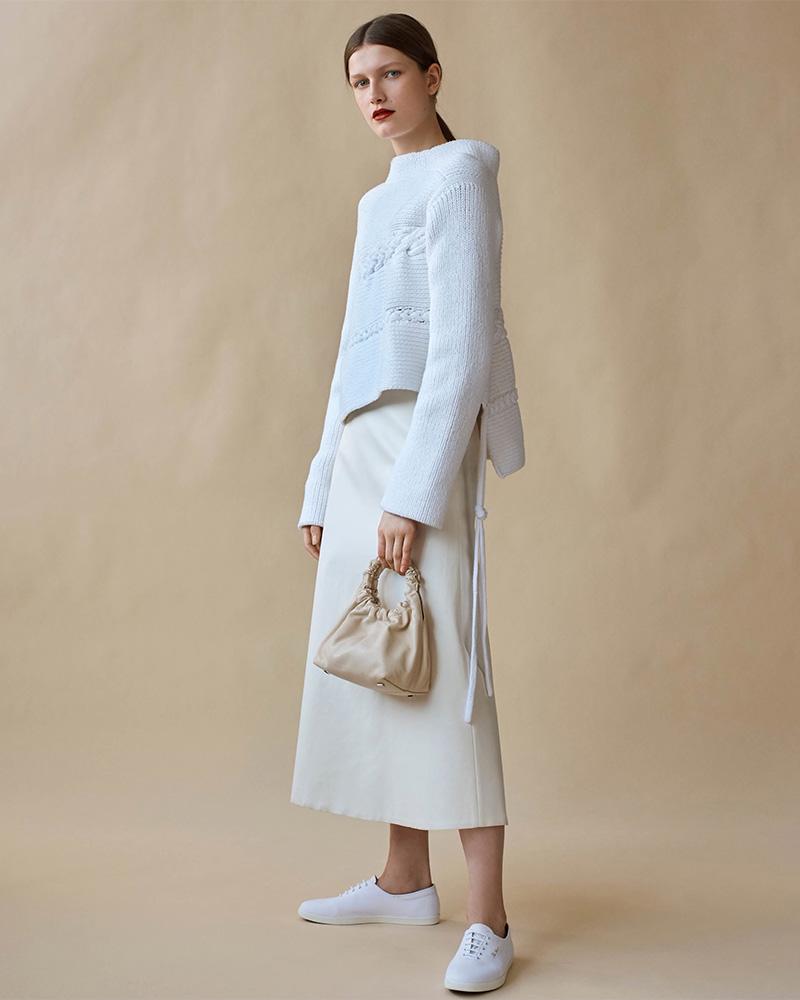 The Row Alys Cotton-Blend Asymmetric Sweater
