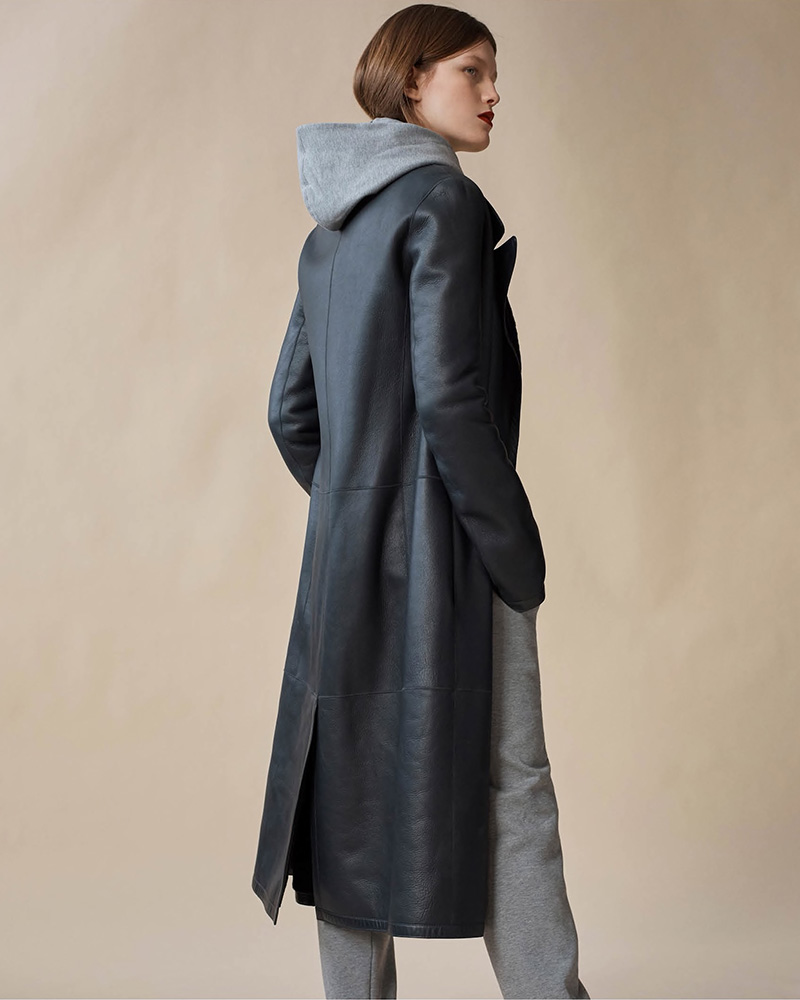 The Row Cintry Shearling Duster Coat