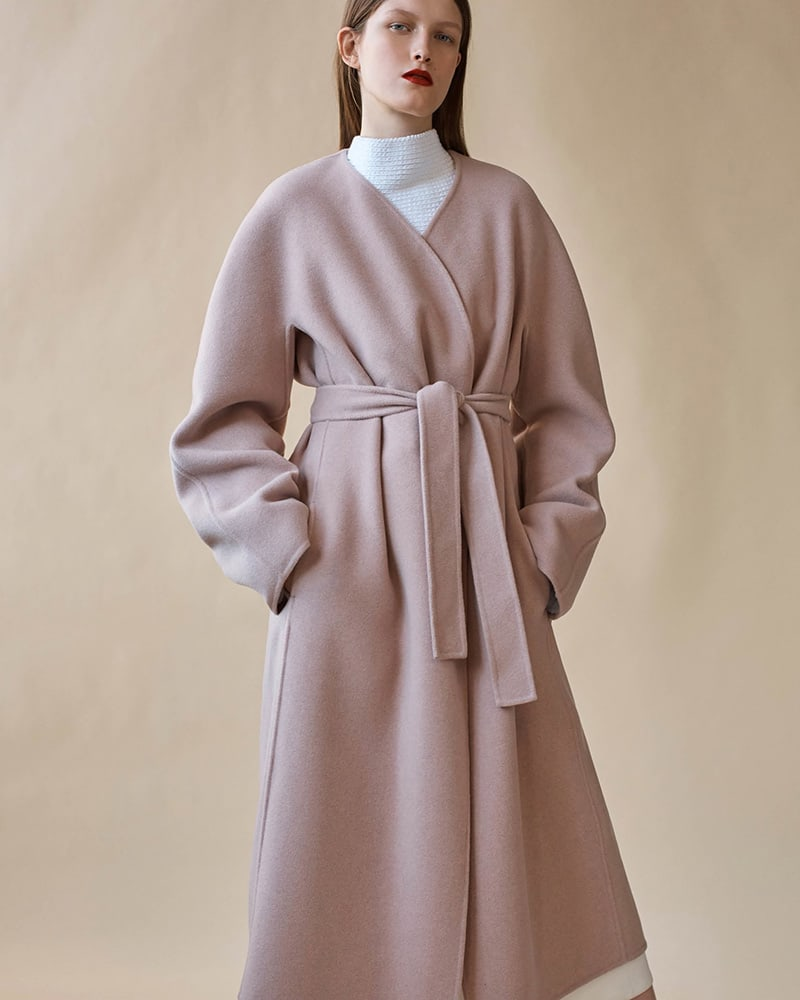 The Row Mesly Cashmere-Wool Belted Coat