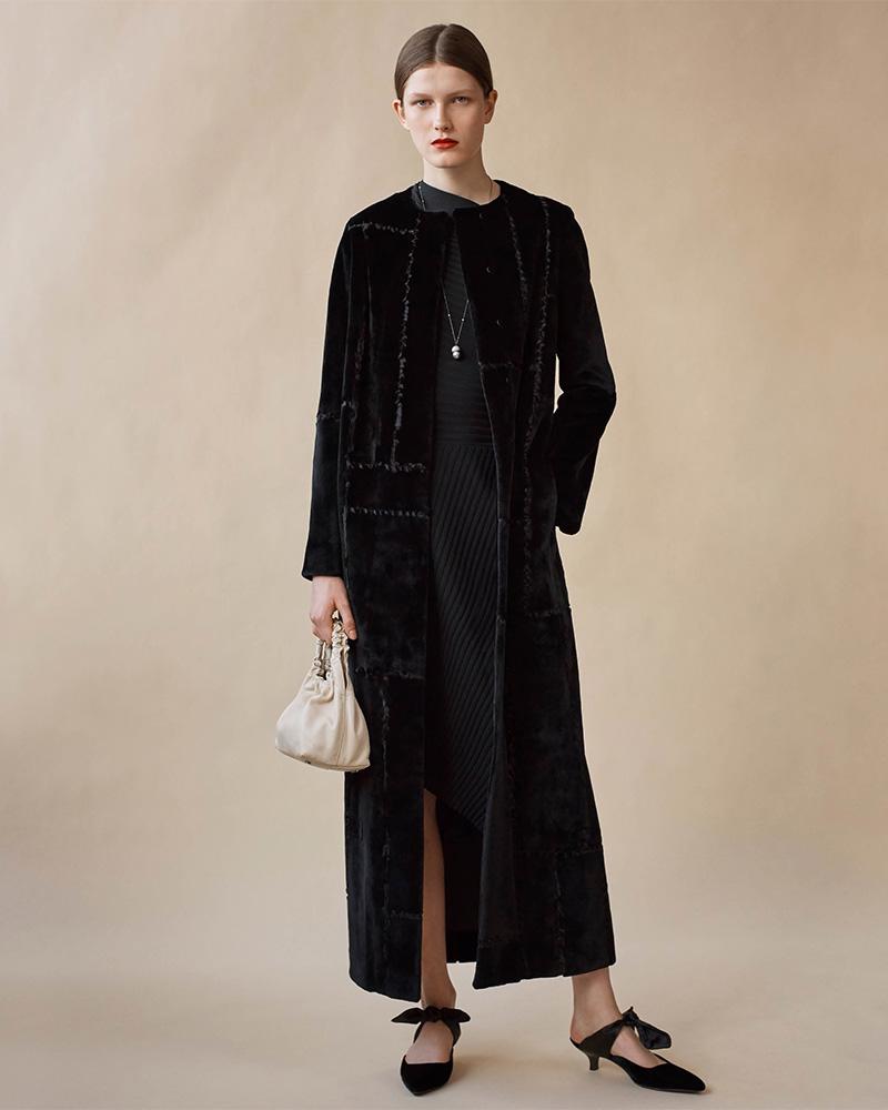 The Row Paycen Fur Long Coat