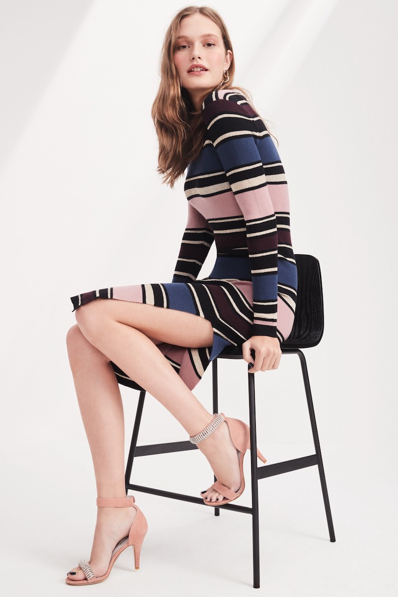 cupcakes and cashmere Barrow Stripe Midi Dress