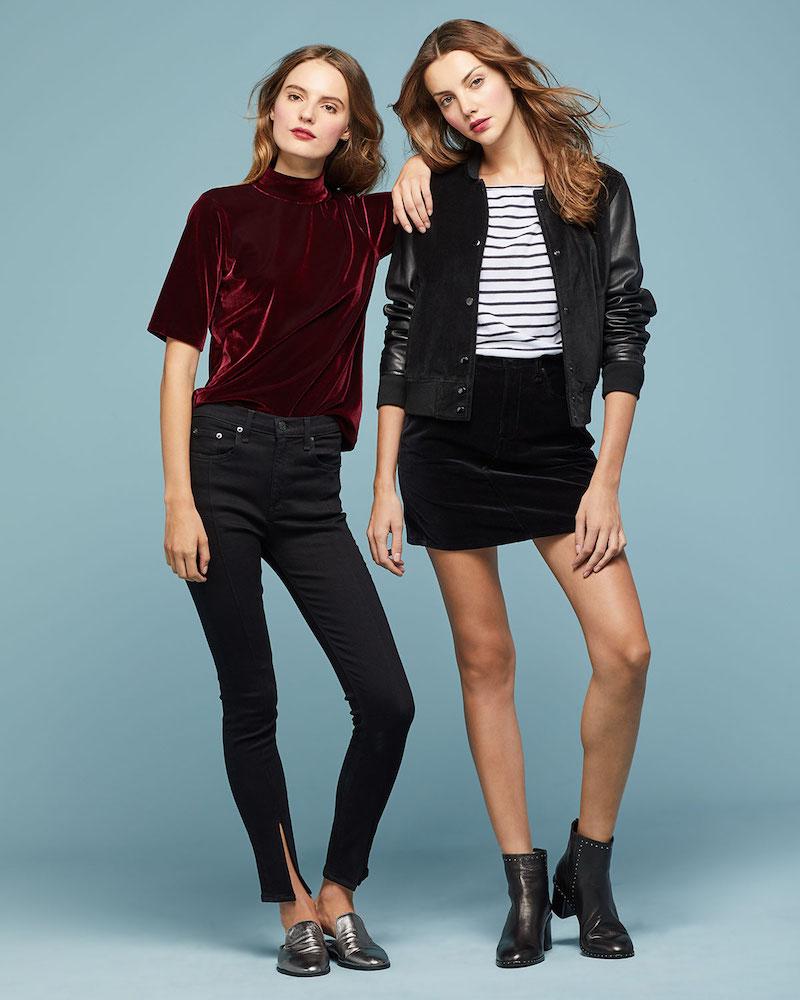 rag & bone JEAN Yuki High-Rise Skinny jeans with Pintuck & Slit