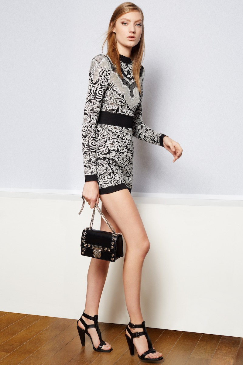 Balmain Baroque Knit Minidress