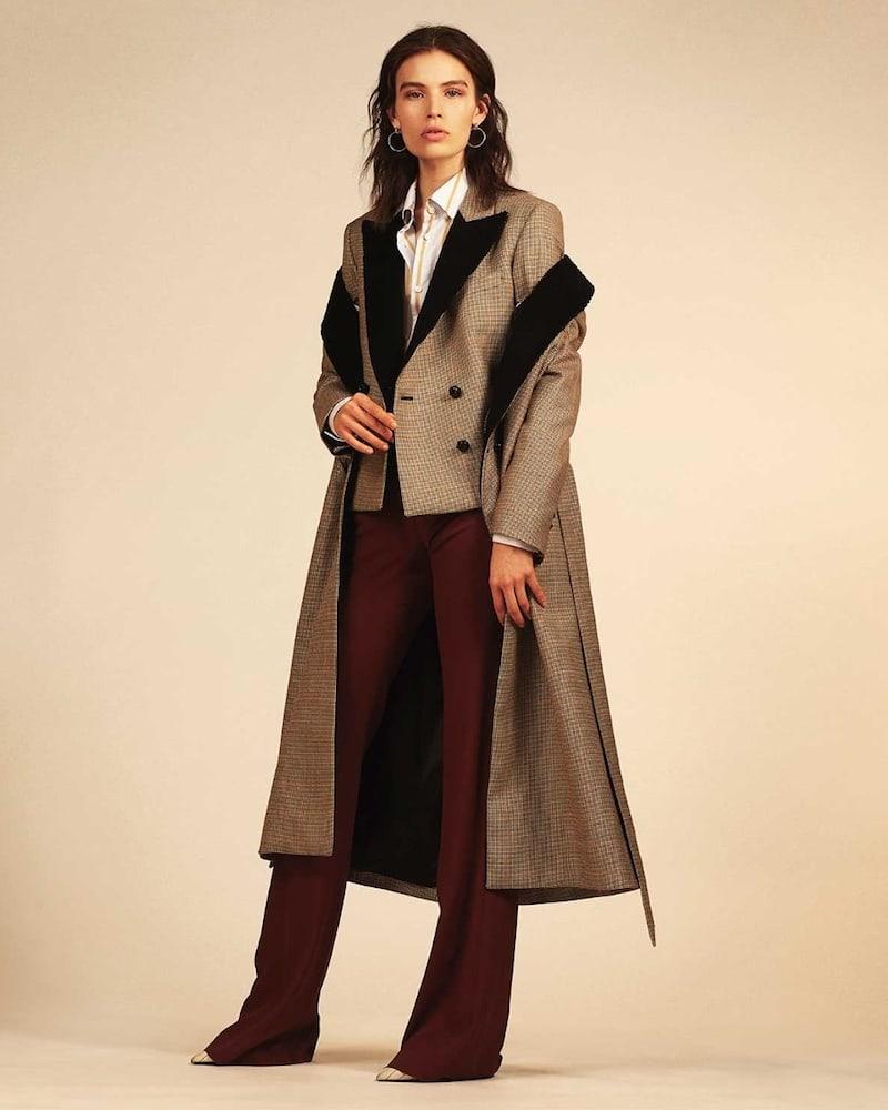 Blazé Milano If and When Pow Velvet-Lapel Tie-Waist Coat