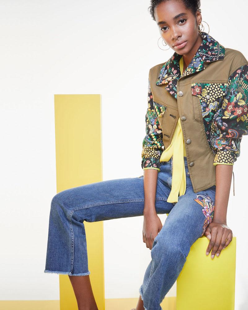 Etro Geometric Floral Jacquard Army Jacket