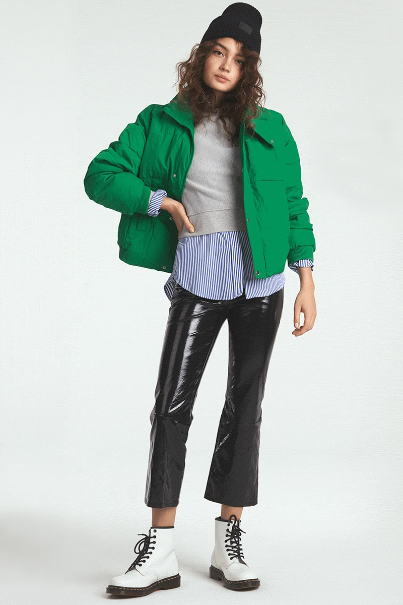 Free People Slouchy Cropped Puffer Coat