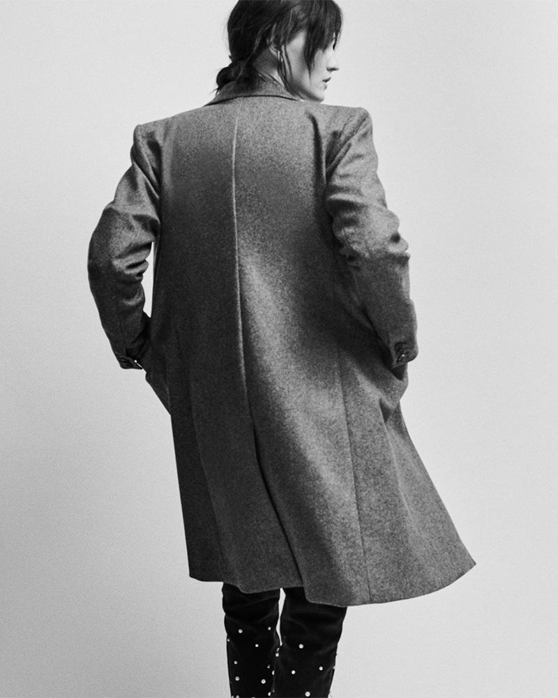 Isabel Marant Joren Stretch-Virgin Wool Coat