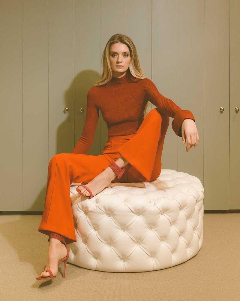 Khaite Henrietta Bell-Cuff Ribbed-Knit Wool-Blend Sweater