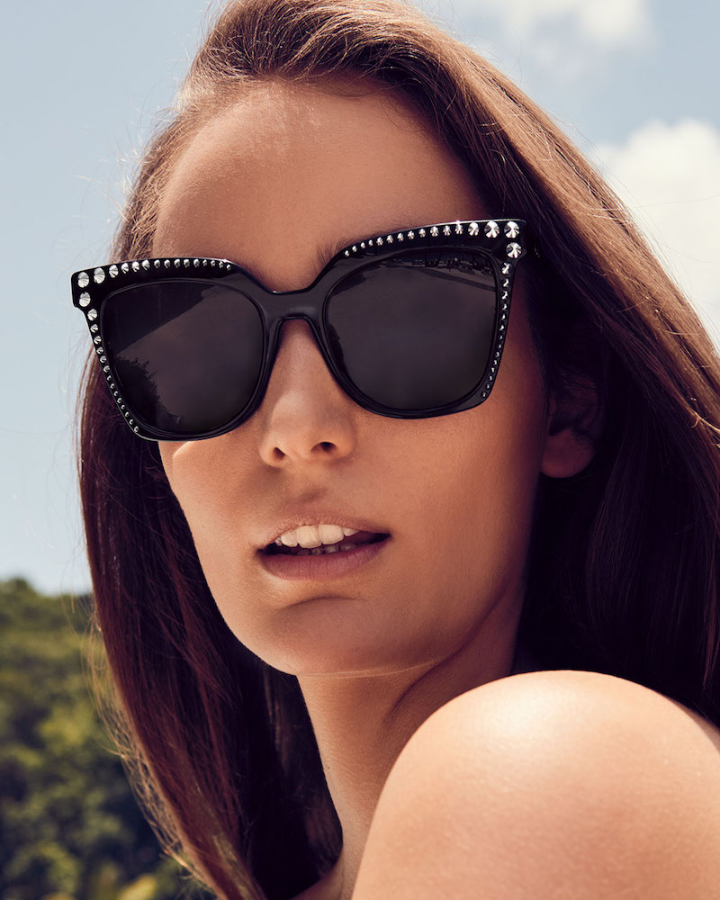 MCM Square Cat-Eye Sunglasses with Stud Detail