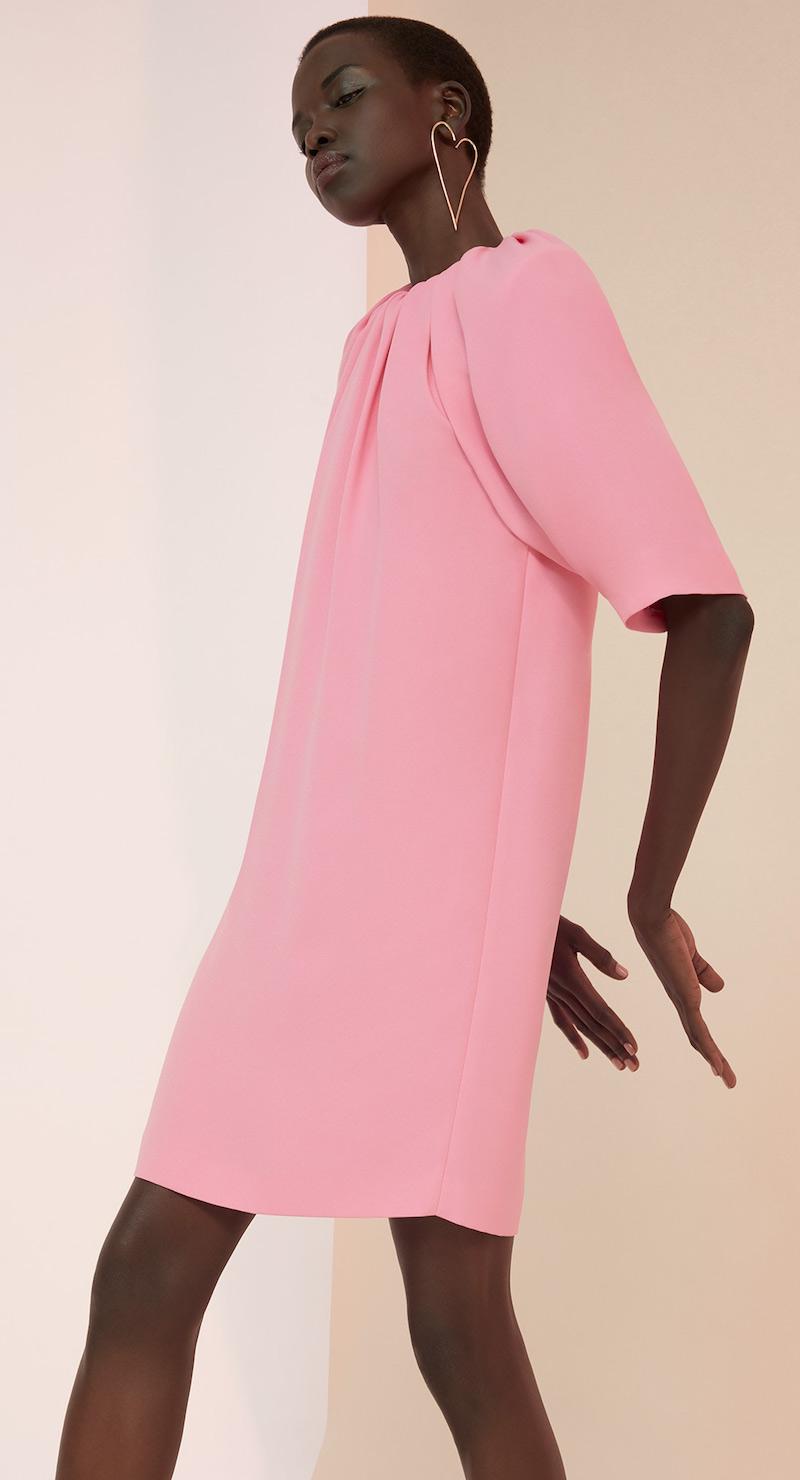 Maison Margiela Rouched Neck Mini Dress