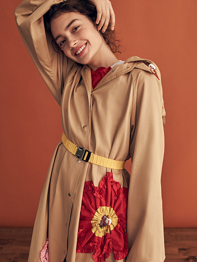 Marianna Senchina Flower Trench Coat