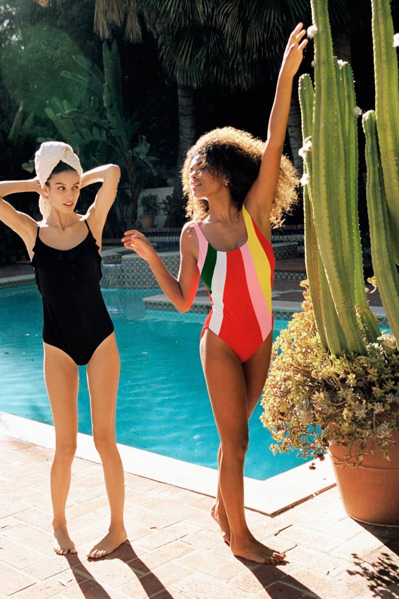 & Other Stories Frill Swimsuit in Black
