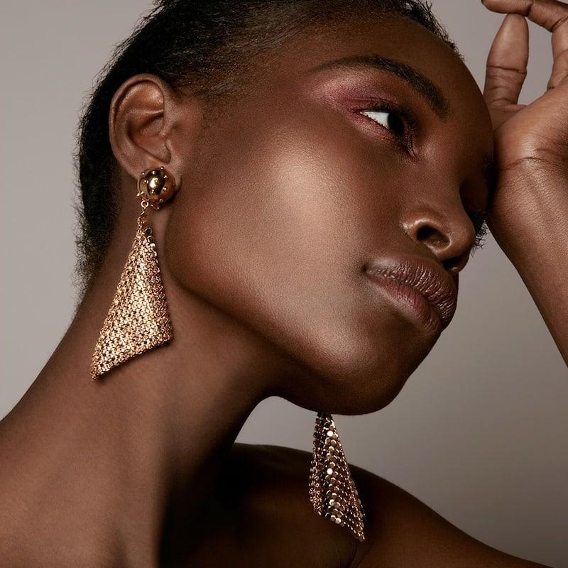 Prada Glomesh Drop Clip-On Earrings