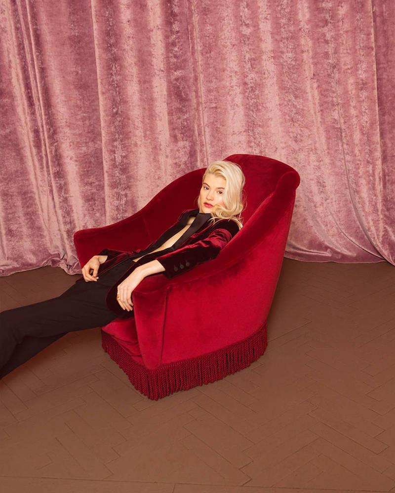 Saint Laurent Single Breasted Velvet & Satin Jacket