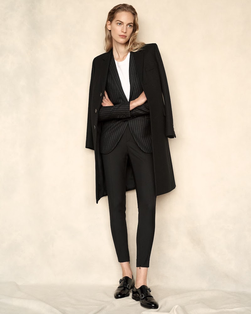 Saint Laurent Wool-Gabardine Coat