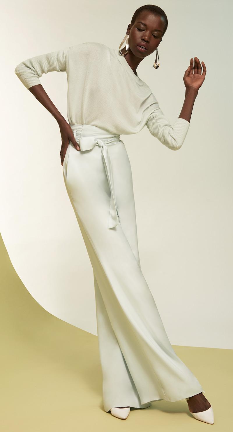 Sally LaPointe Lightweight Asymmetrical Sweater