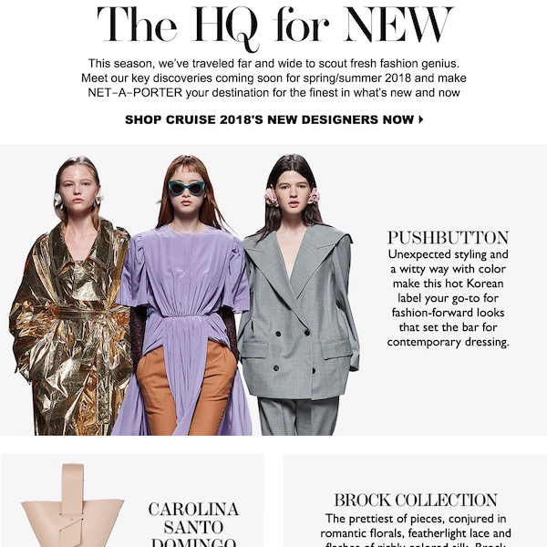 The HQ for New: Cruise 2018 New Designer Names to Know