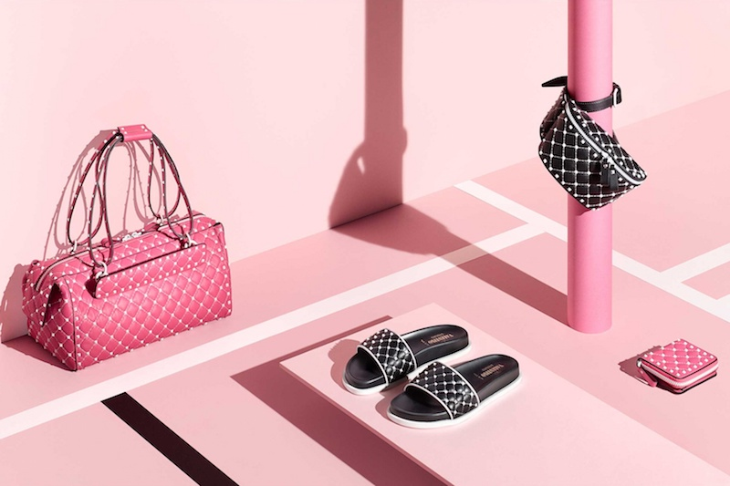 Valentino Rockstud Quilted-Leather Slides