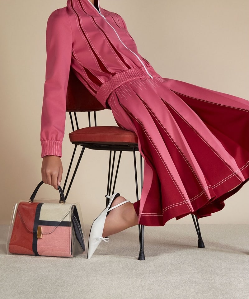 Valextra Iside Medium Color-Block Bag