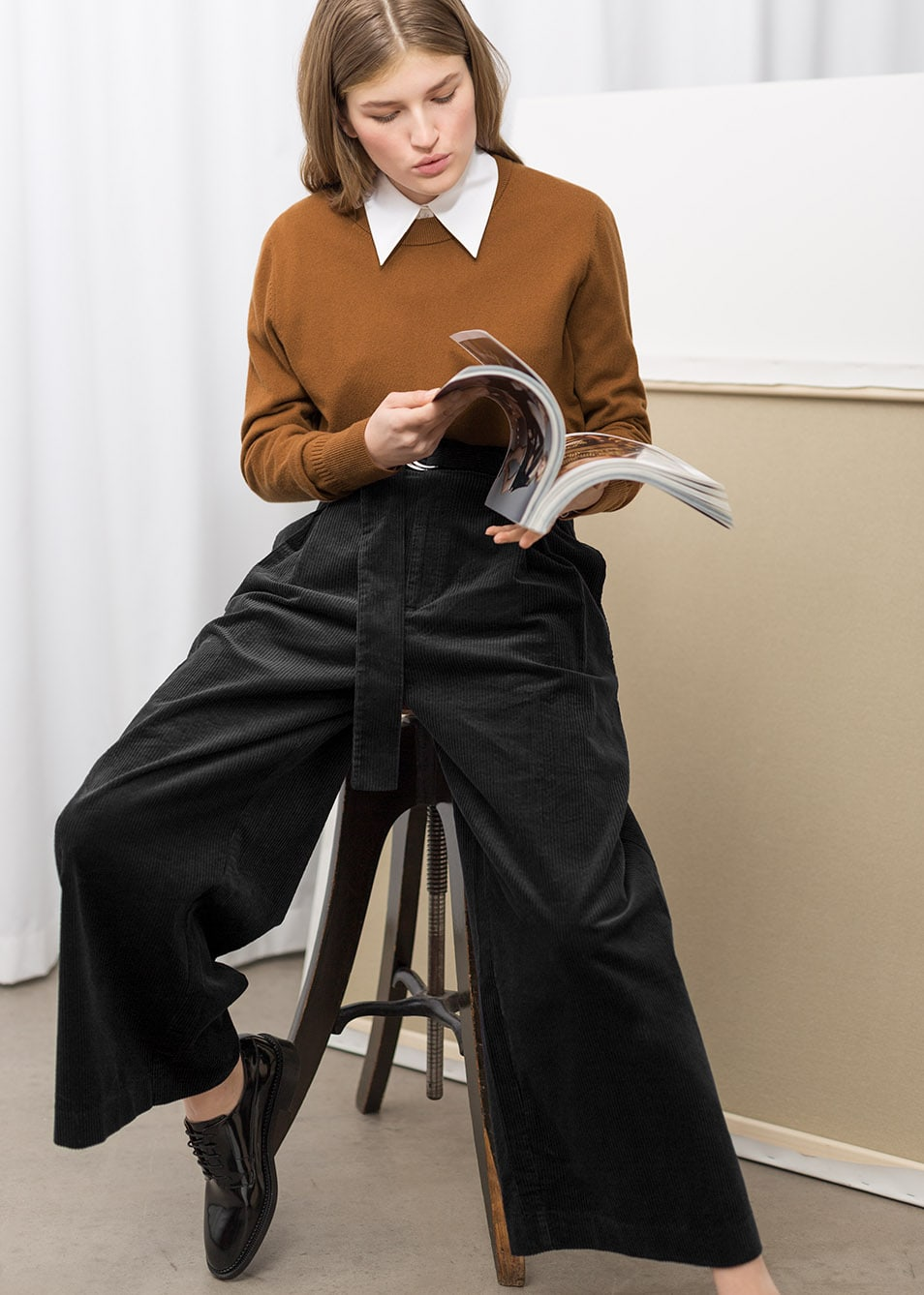 & Other Stories Wide Corduroy Trousers