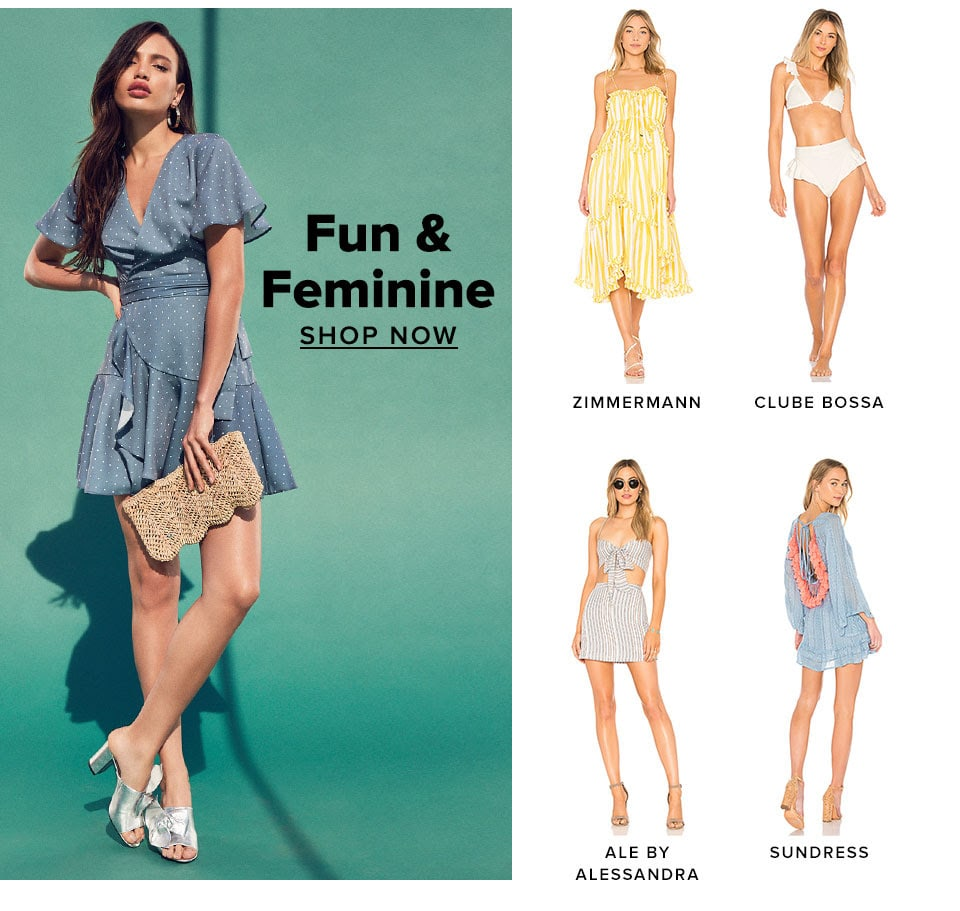 Fun & Feminine. Shop Now.