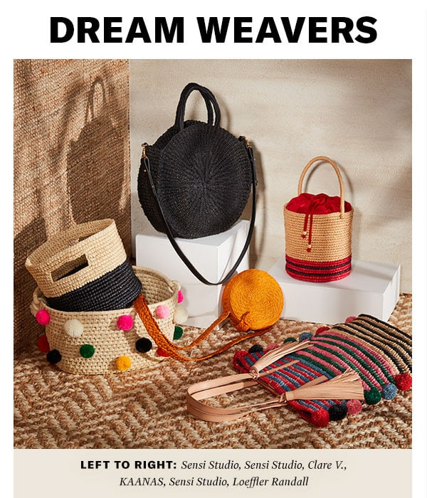 Our latest straw carryalls make a case for going au naturel with your accessories.