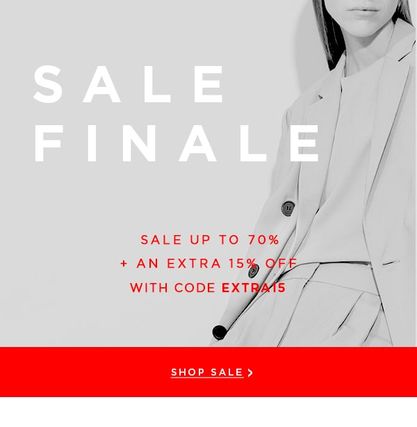 New Styles Added: Sale Finale Up to 70% + Extra 15% Off