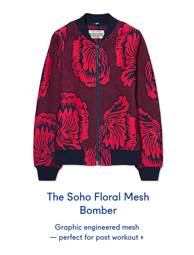 The Soho Floral Mesh Bomber
