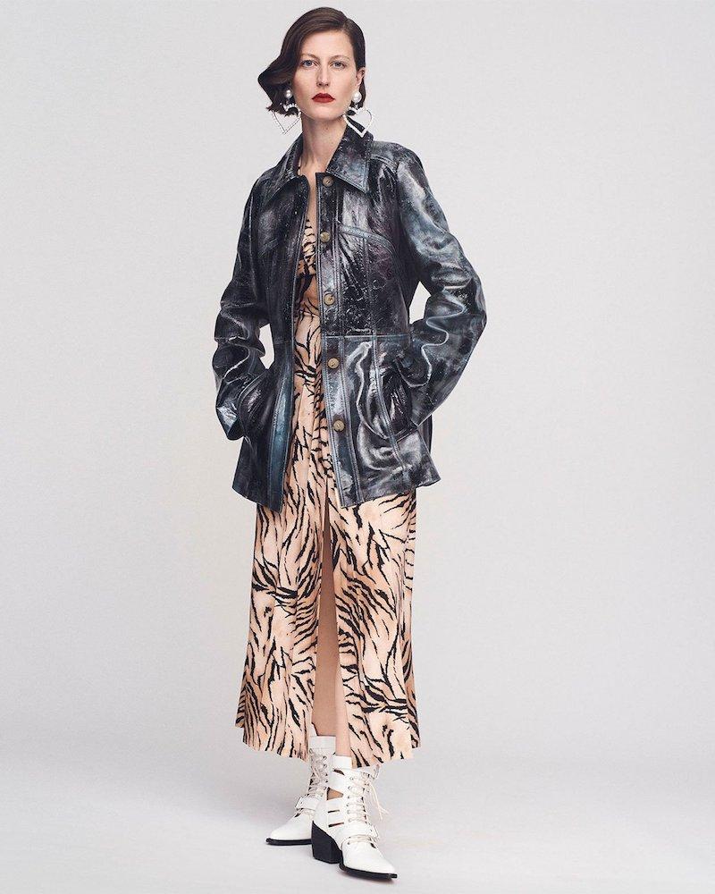 Acne Studios Agatah Shiny Leather Panelled Jacket
