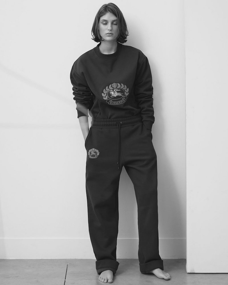 Burberry Crest-Embroidered Round-Neck Sweatshirt