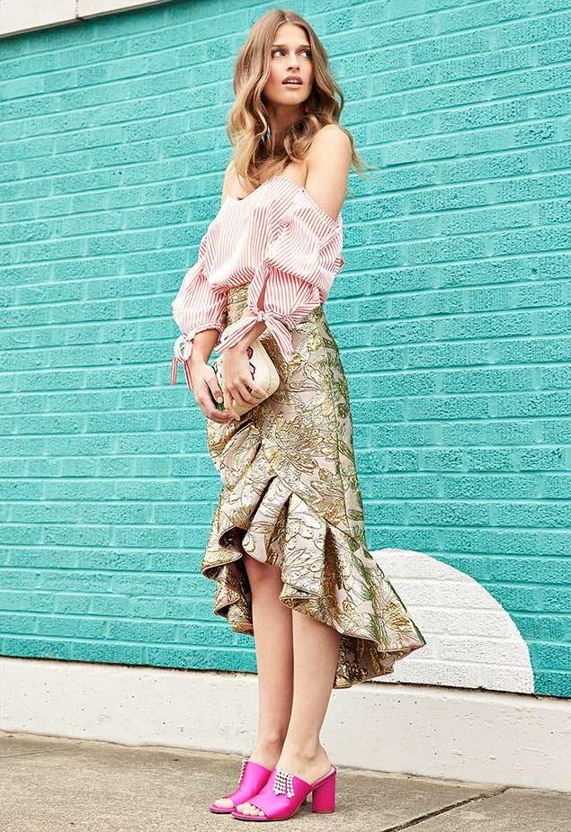 Caroline Constas Gabriella Bustier Stripe-Print top
