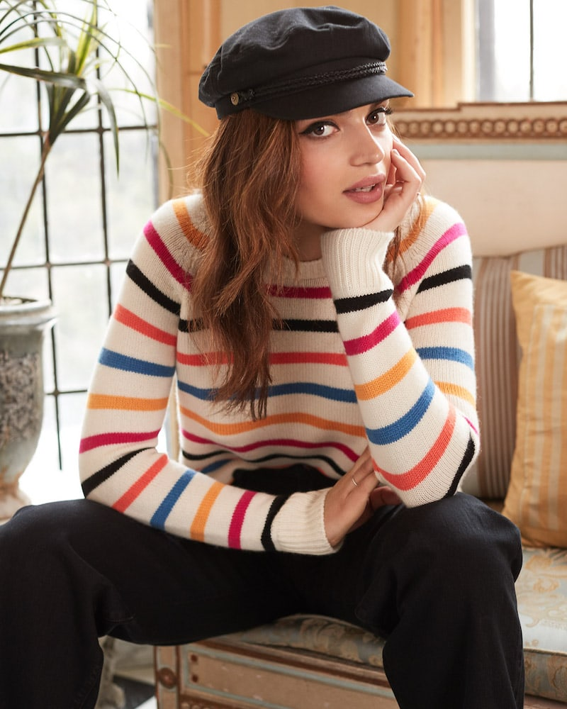 Chinti and Parker Cashmere Breton Sweater