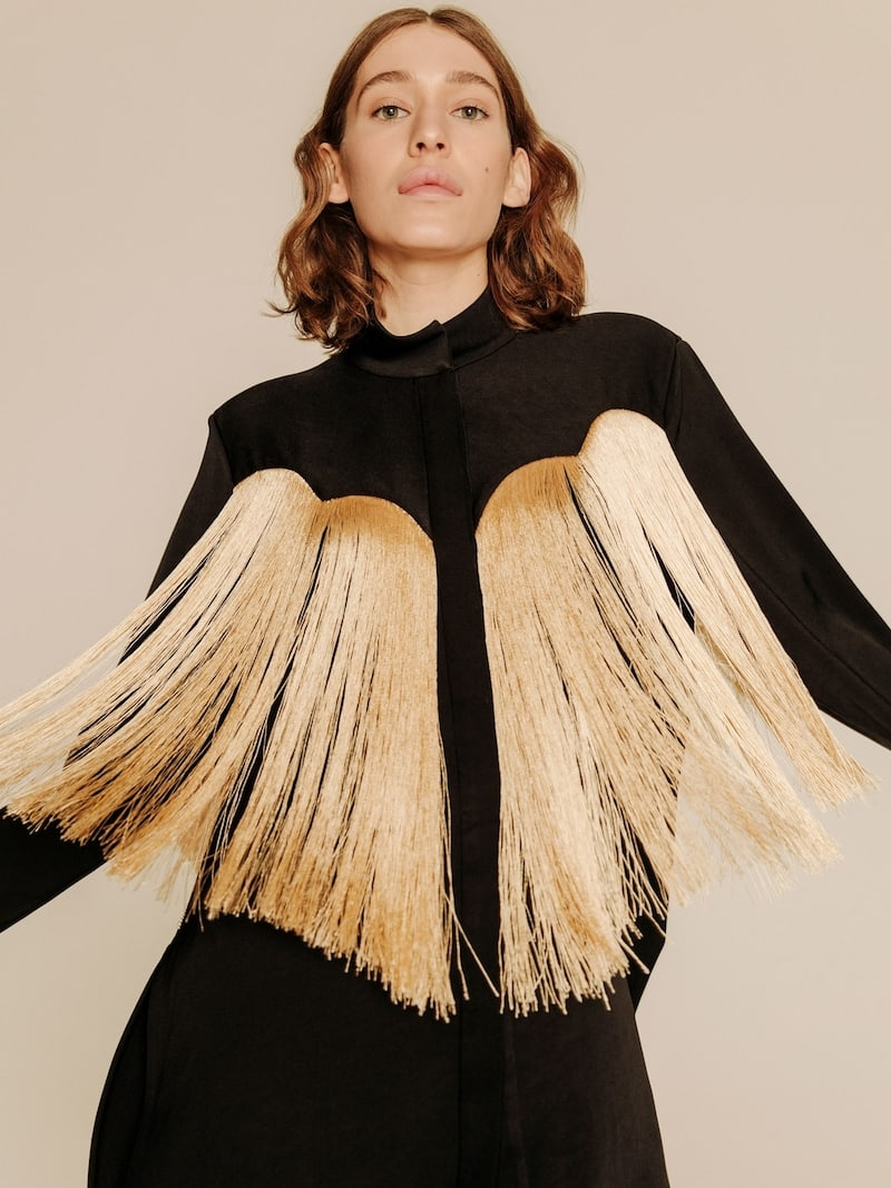 Ellery Yeah-Ha Fringed Yoke Shirt