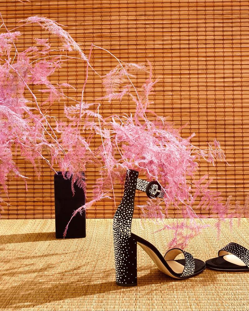 Gianvito Rossi Portofino Studded Suede Sandals