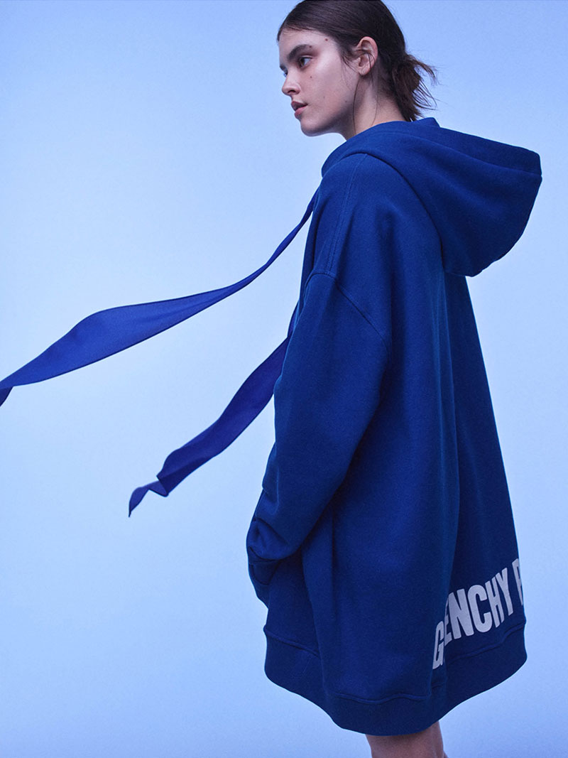 Givenchy Logo Cotton Fleece Oversized Hoodie
