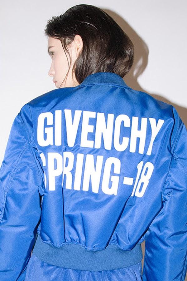Givenchy Spring 18 Printed Nylon Bomber Jacket