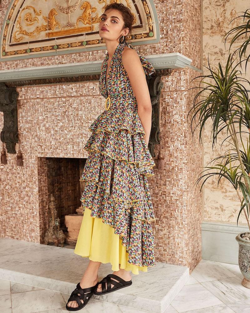 Gul Hurgel Floral Tiered Maxi Dress