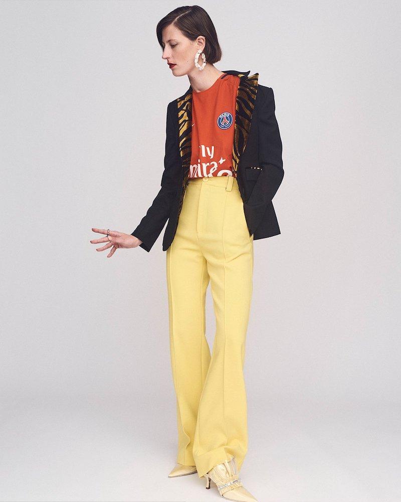 Hillier Bartley Barathea Contrast-Lapel Wool-Blend Blazer
