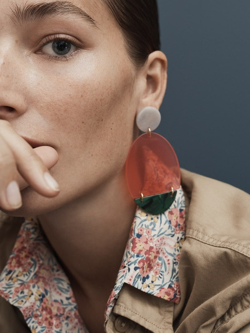 J.Crew Lucite Statement Earrings