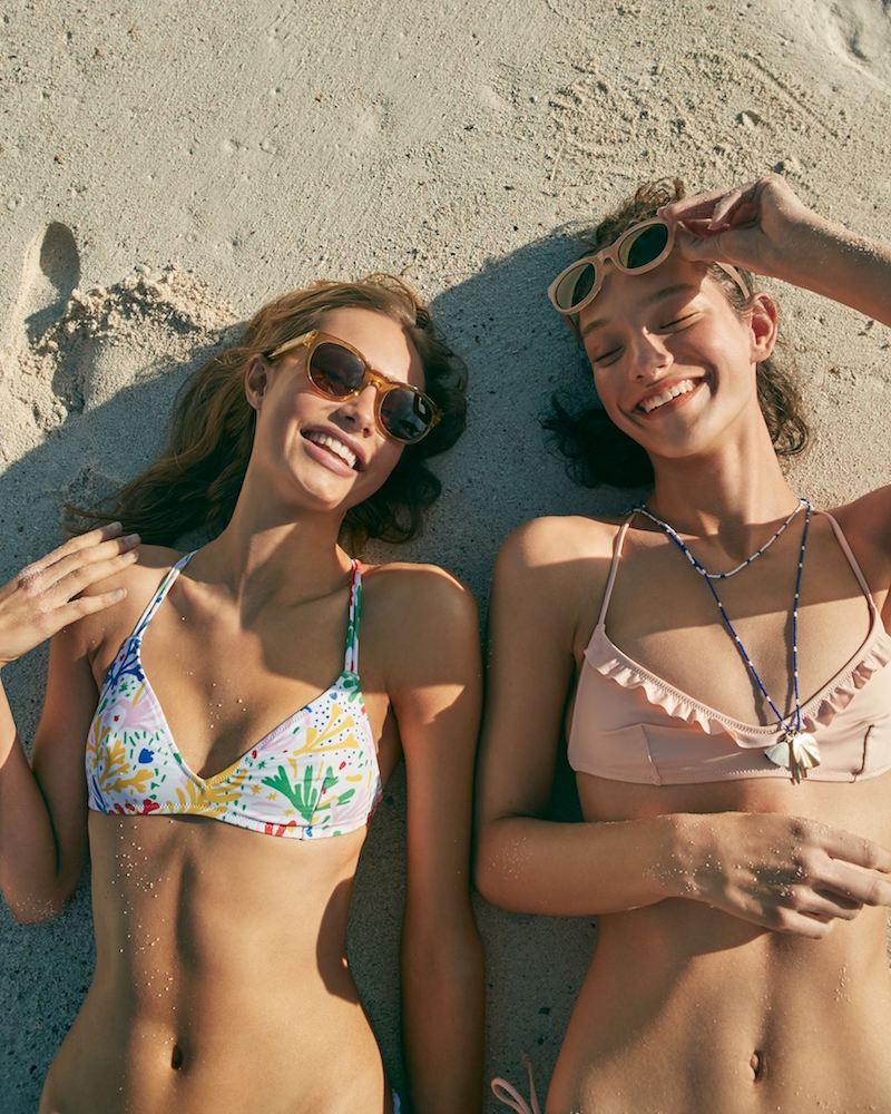 J.Crew Playa Printed Monterey Strappy Bikini Top