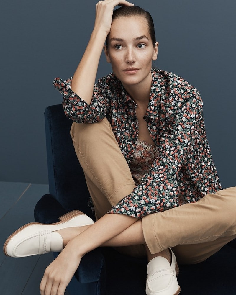 J.Crew Slim Perfect Shirt In Liberty Sarah Floral