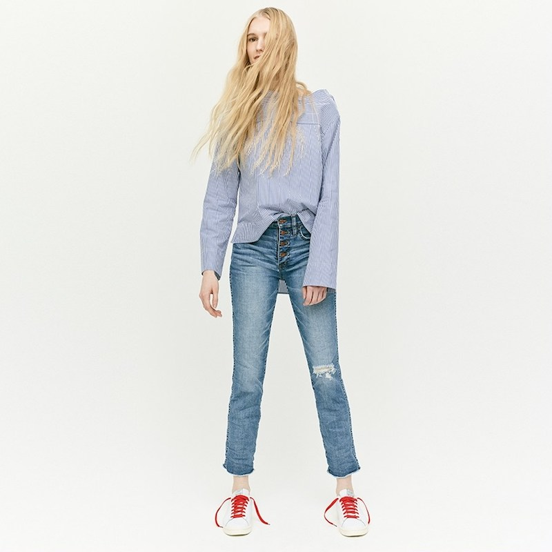 J.Crew Vintage Straight Jean in Reed Wash With Button Fly