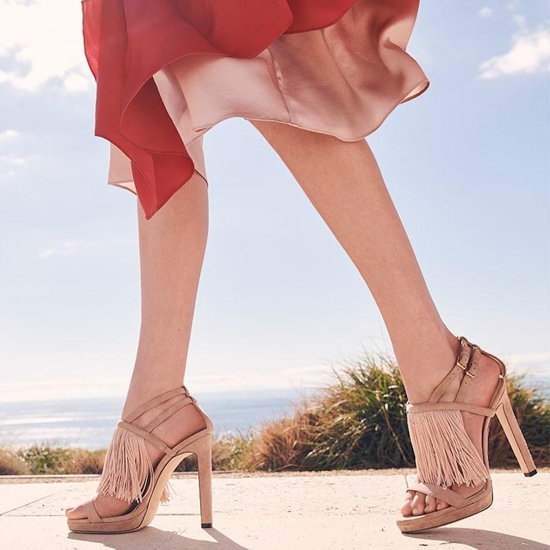 Jimmy Choo Suede Stiletto Sandals