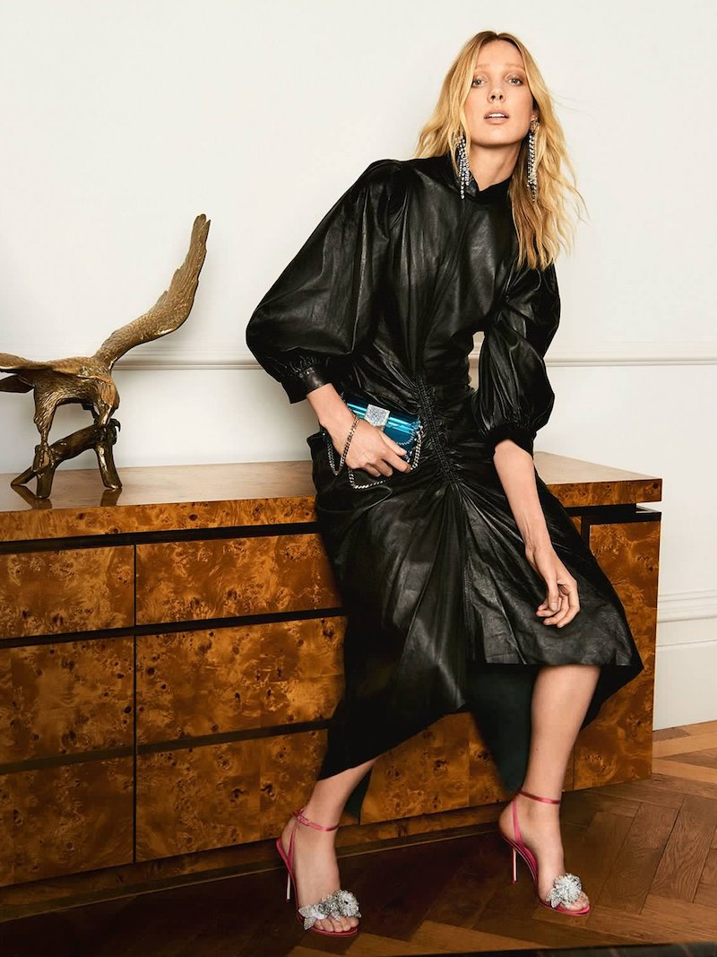 Joseph Fay Ruched Leather Dress