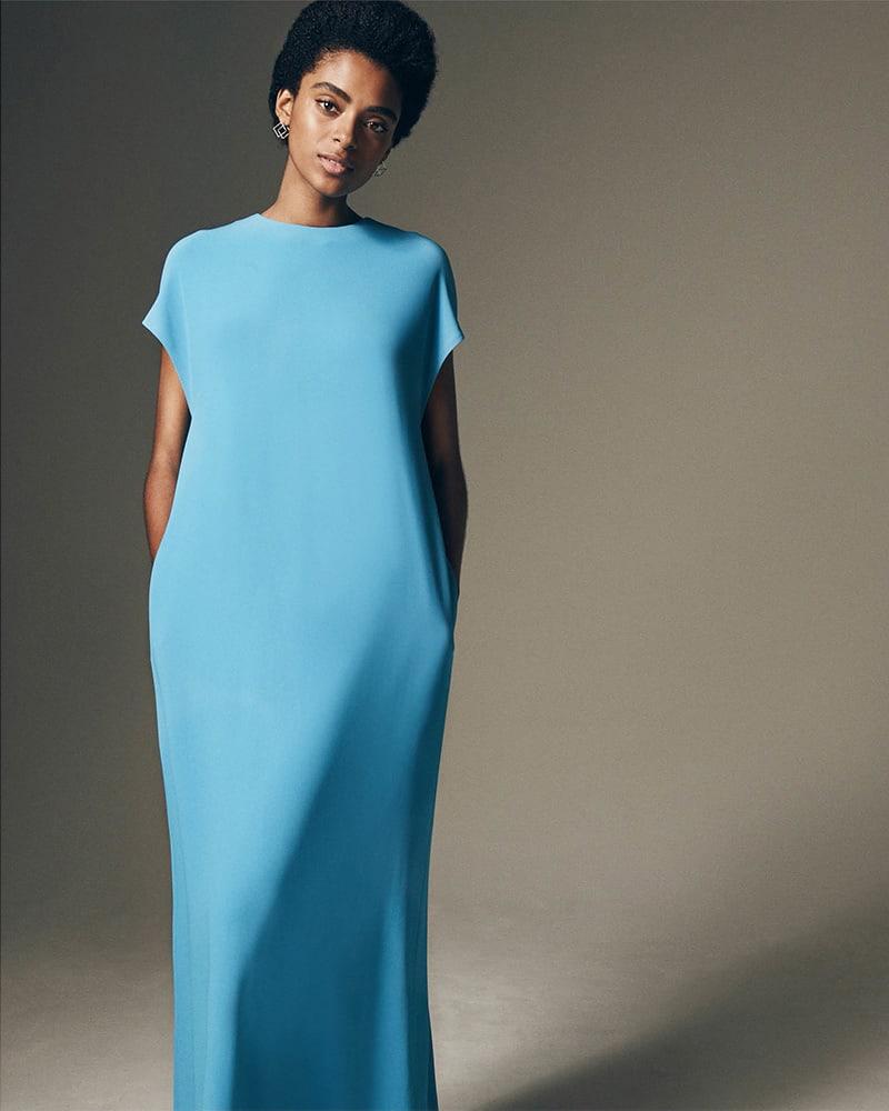 Lisa Perry Flyaway Crepe Gown