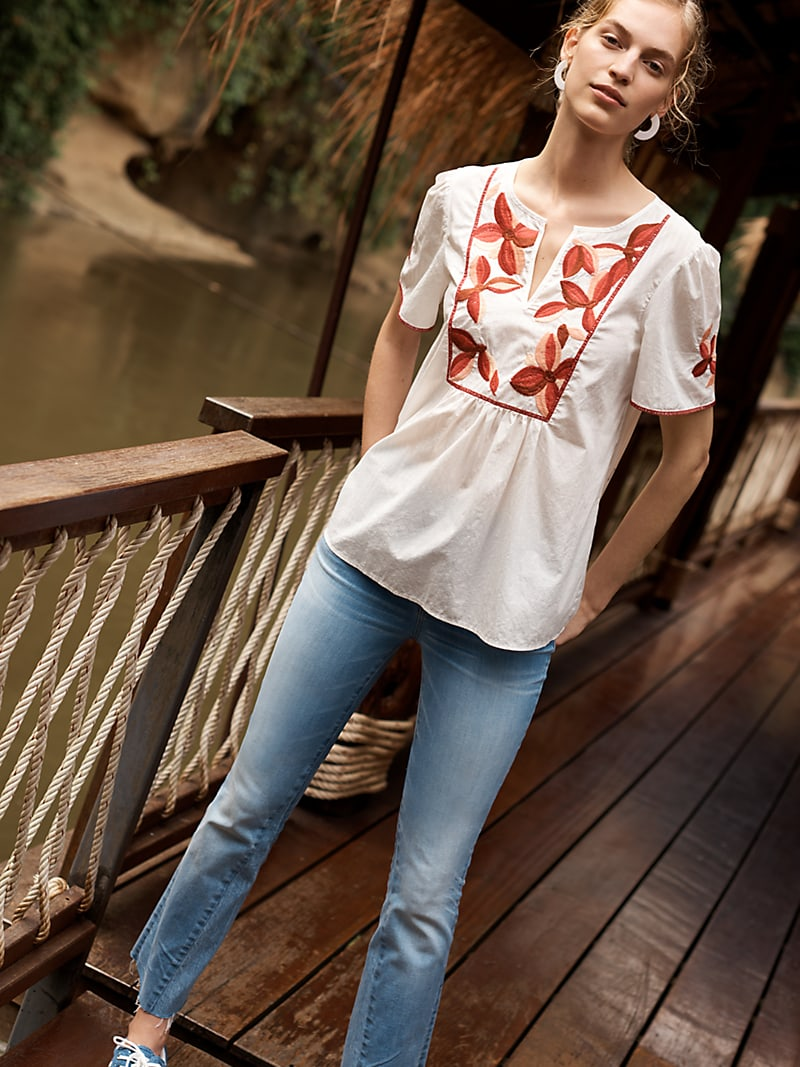 Madewell Embroidered Fable Top
