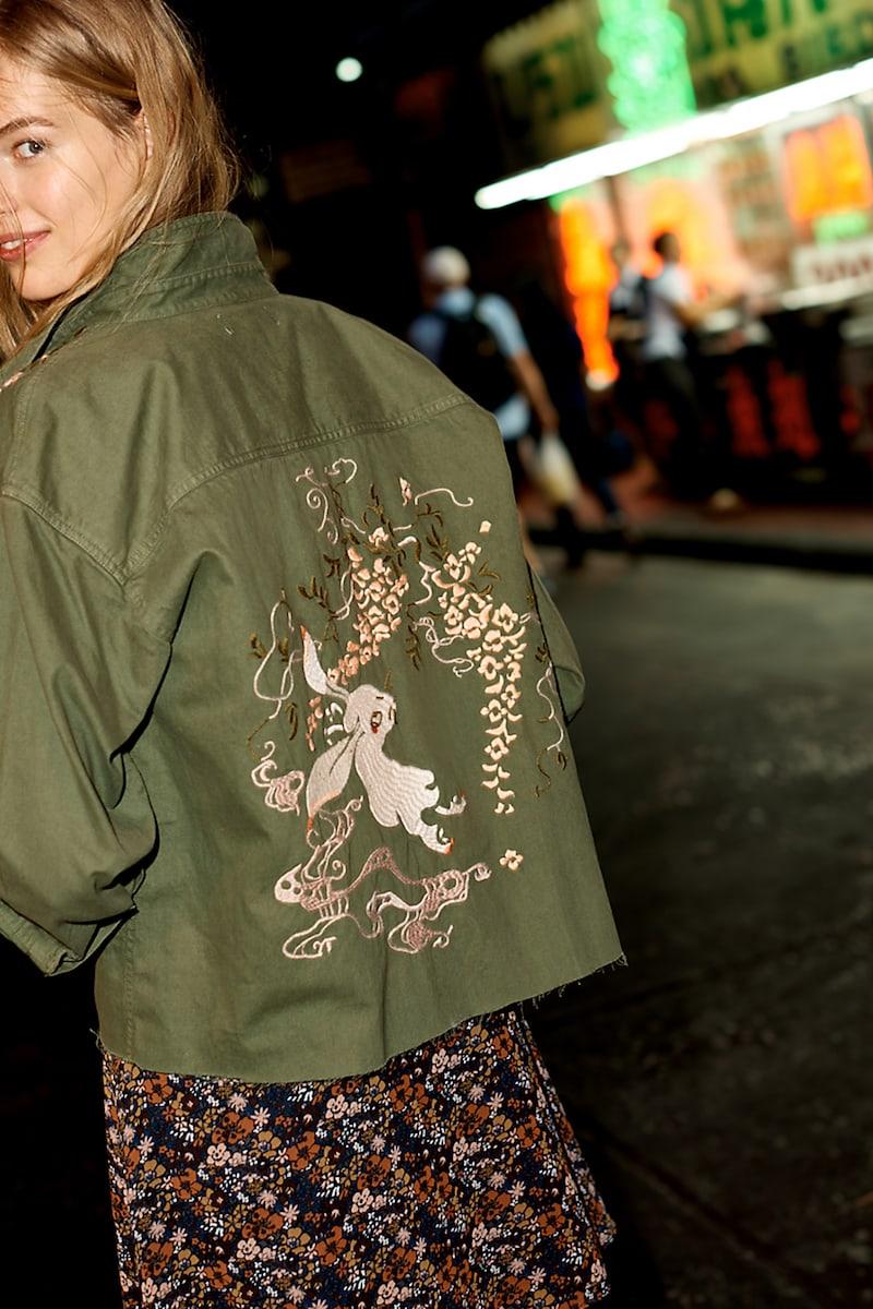 Madewell Embroidered Rabbit Shirt-Jacket