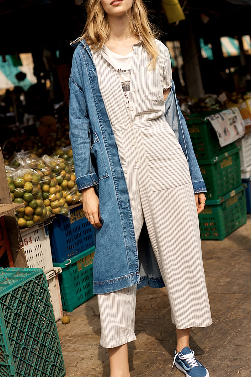 Madewell Striped Utility Jumpsuit