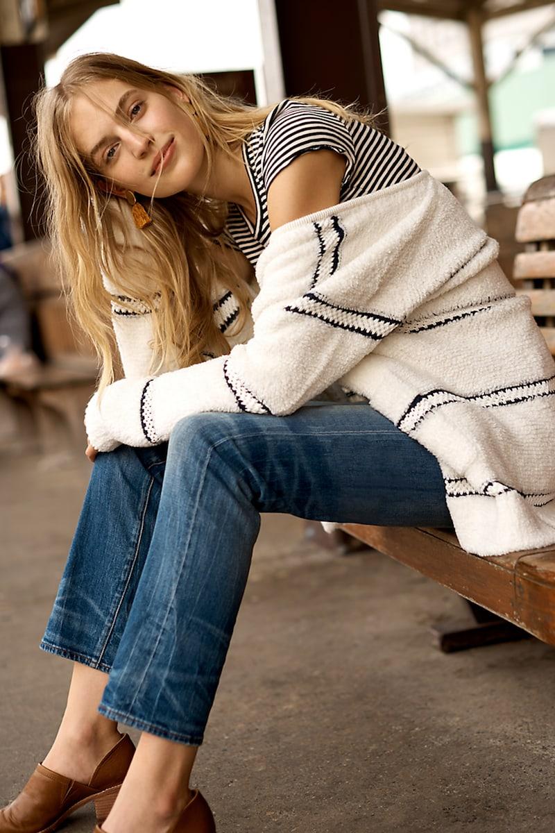 Madewell Striped bouclé Cardigan Sweater