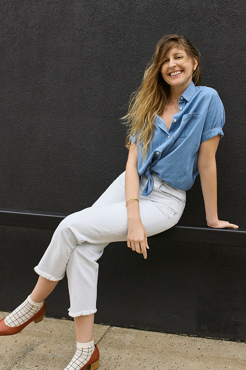 Madewell Tapered Wide-Leg Jeans